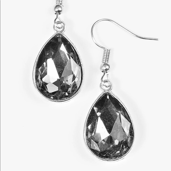 Paparazzi Play the FAME Silver Earrings NWT